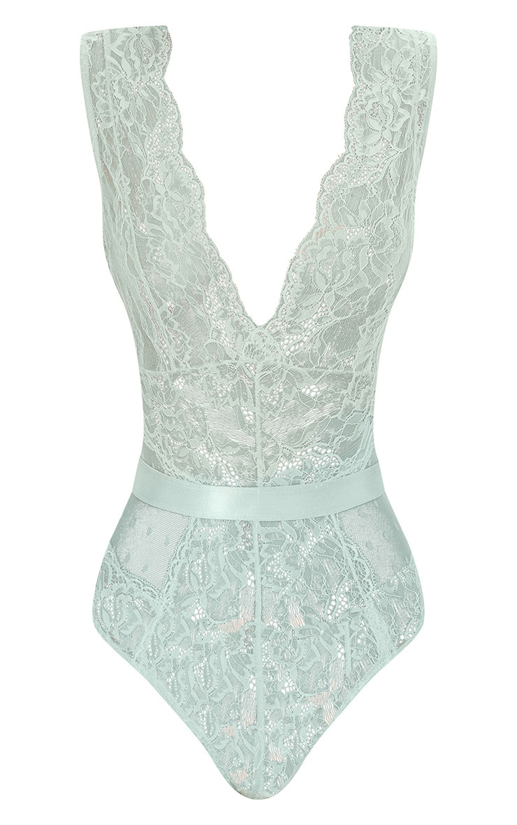 Mint Lace Bodysuit 3