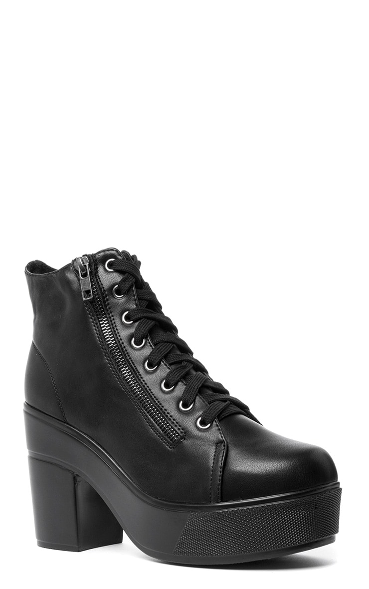 Mila Black Lace Up Boot  4
