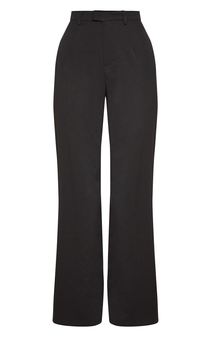 Reemah Black Wide Leg Crepe Pants 3