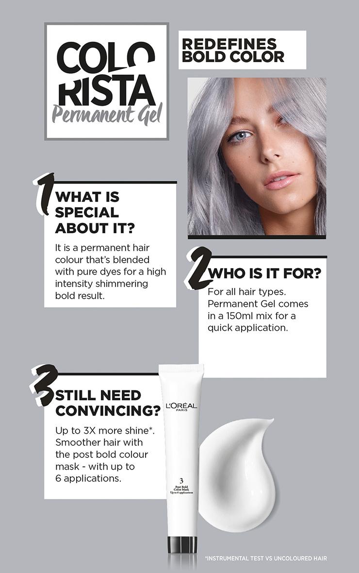 L'Oreal Colorista Silver Grey Hair Dye Long-Lasting Permanent Hair Colour 3