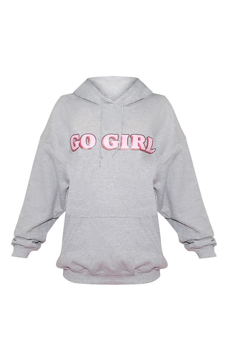 GO GIRL Hoodie Grey 3