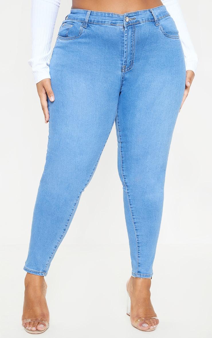 Plus Light Wash Skinny Jeans 2