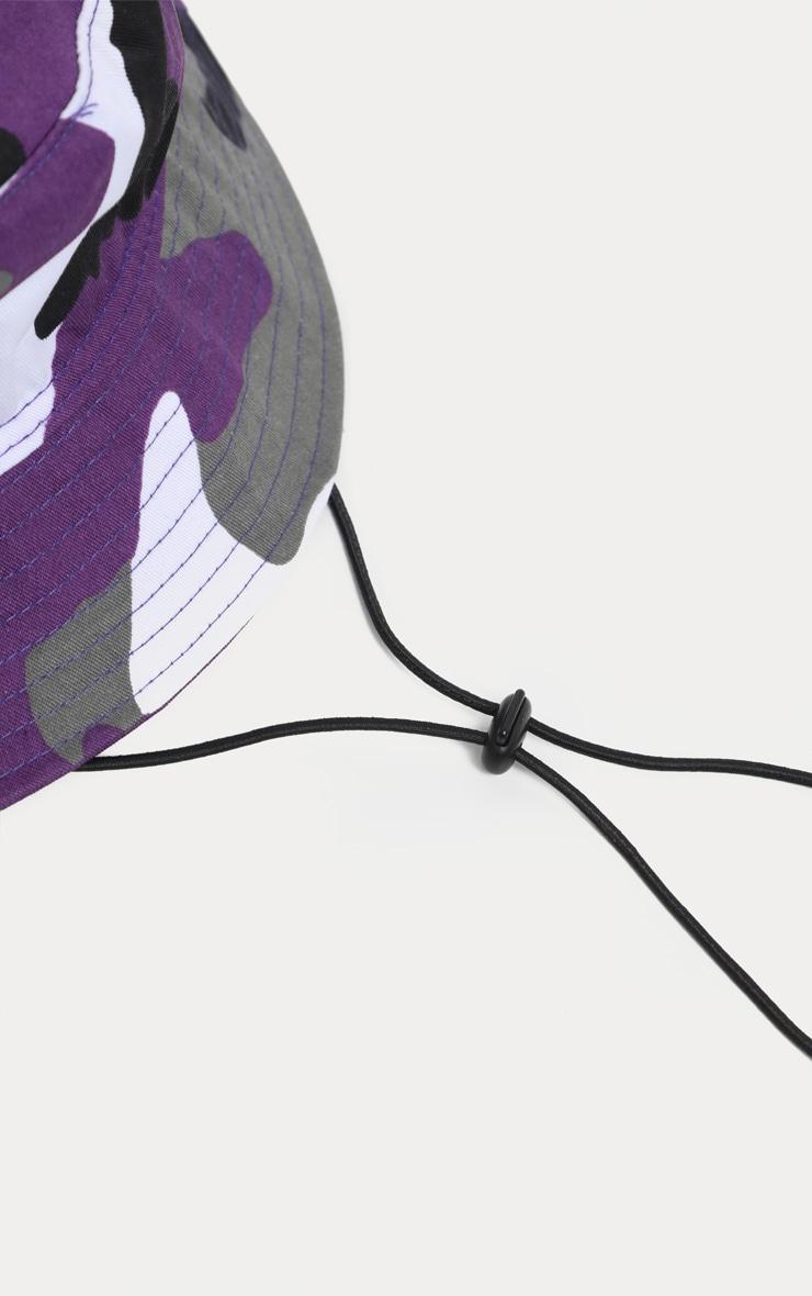 Purple Camo Bucket Hat 4