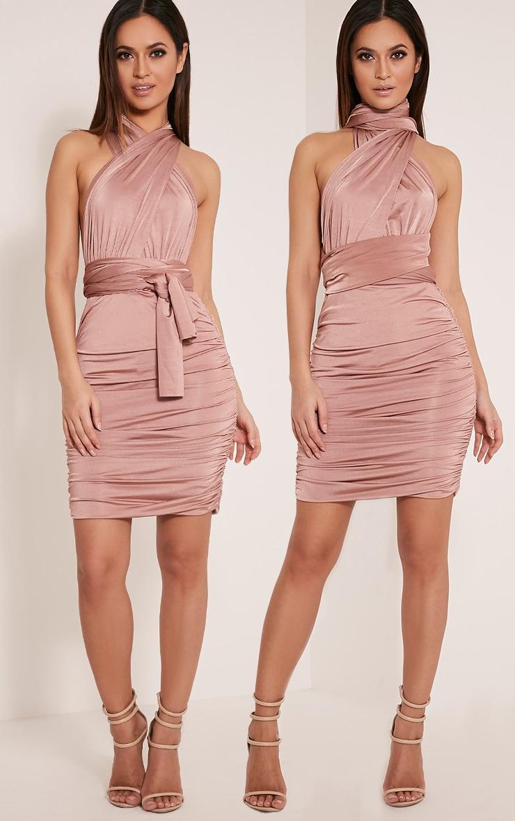 Katherine Blush Multiway Mini Dress 1