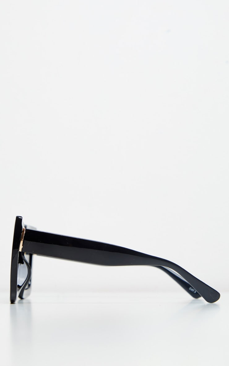 Black Square Oversized Frame Sunglasses 3