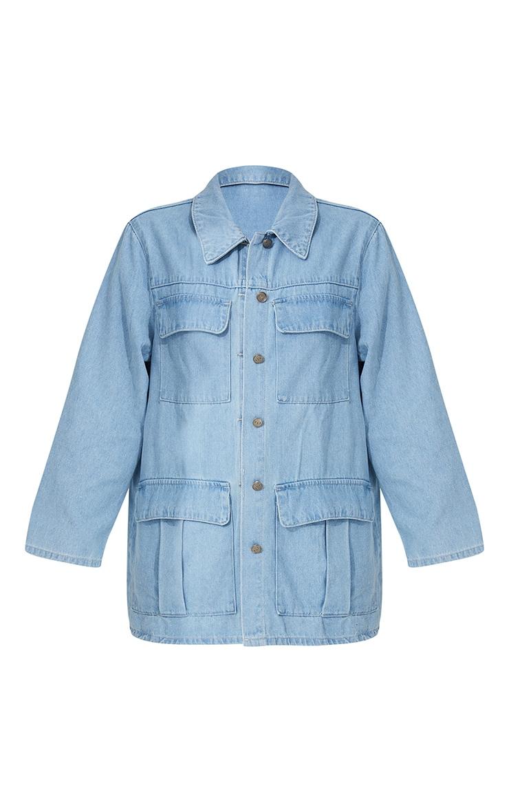 Light Blue Wash Denim Jacket 5