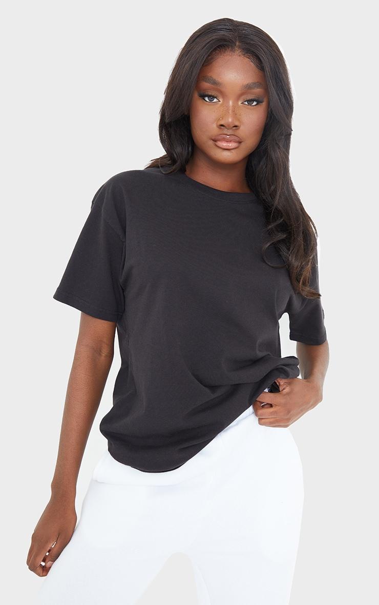 Tall - Tee-shirt noir oversize style boyfriend 1