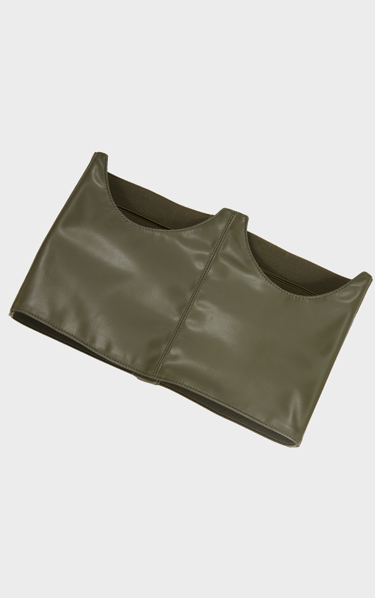 Khaki Cut Out Corset Belt 2