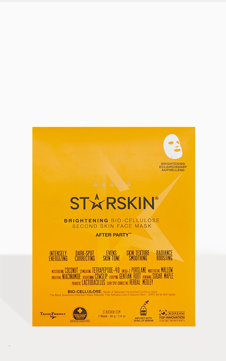 Starskin After Party Coconut Bio Cellulose Brightening Face Mask 1