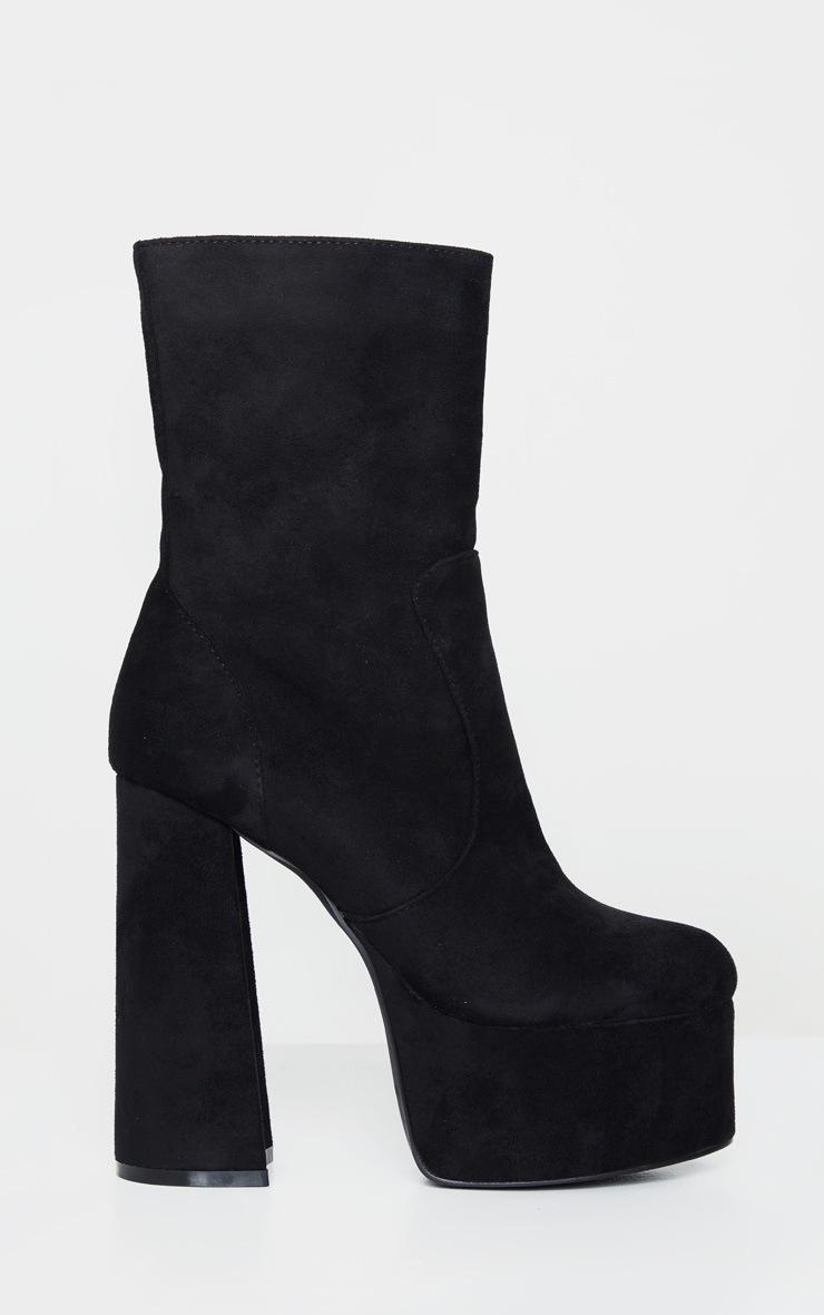 Black Extreme Platform Ankle Boot 4