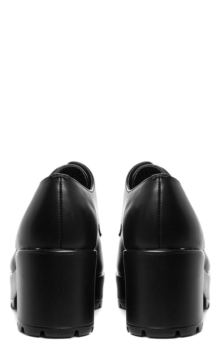 Jean Black Lace Up Heeled Shoe  2