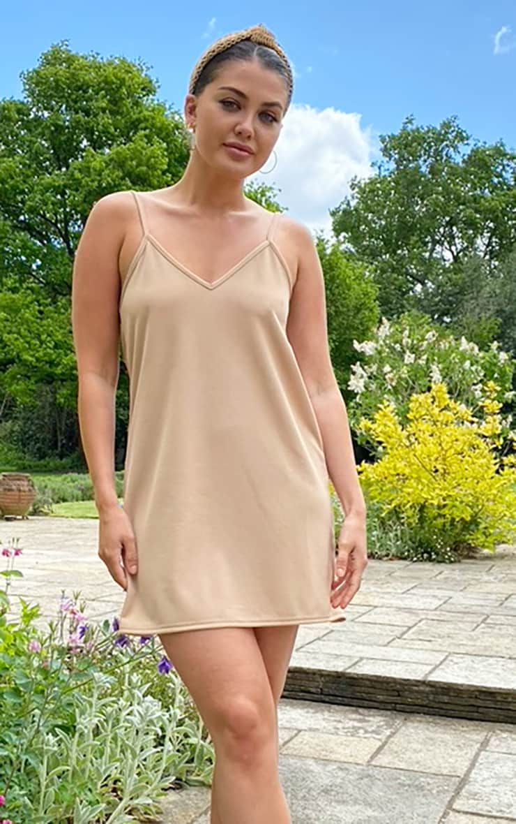 Stone Backless Strappy Detail Cami Dress 1