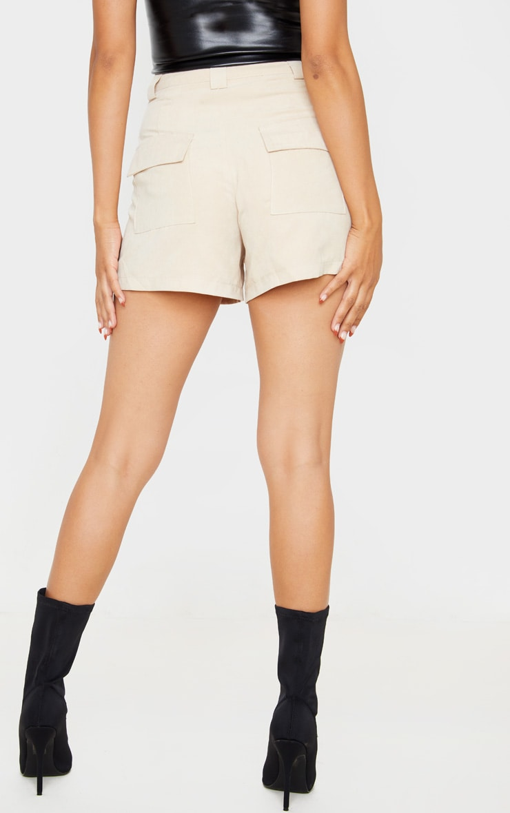 Stone Faux Suede Pocket Detail Short 4