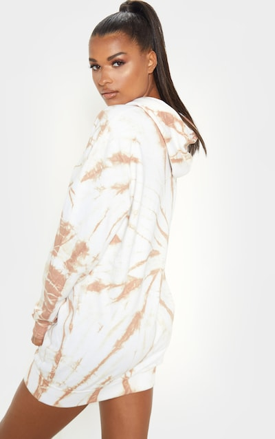 Sand Tie Dye Oversized Hoodie Dress