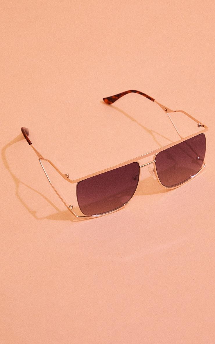 Planet I The Split Gold Gradient Smoke Sunglasses 2