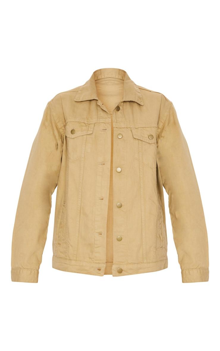 Stone Oversized Boyfriend Denim Jacket 5