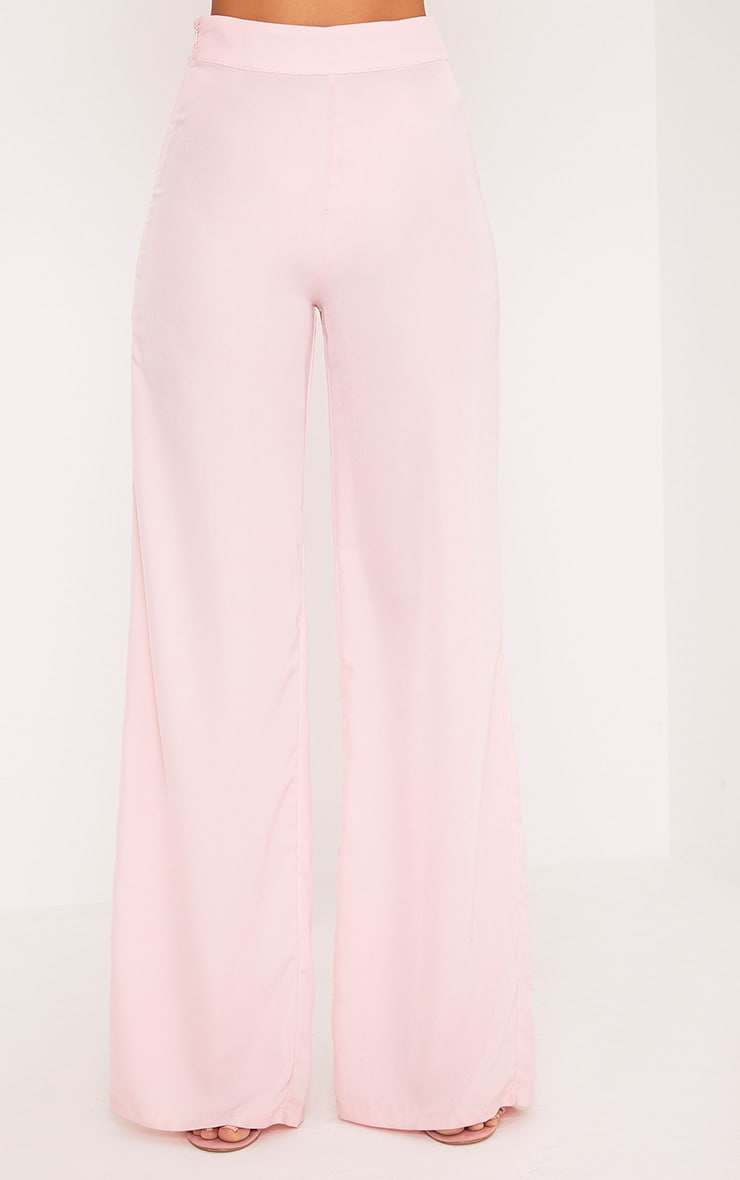 Elnie Baby Pink Wide Leg Suit Trousers 2