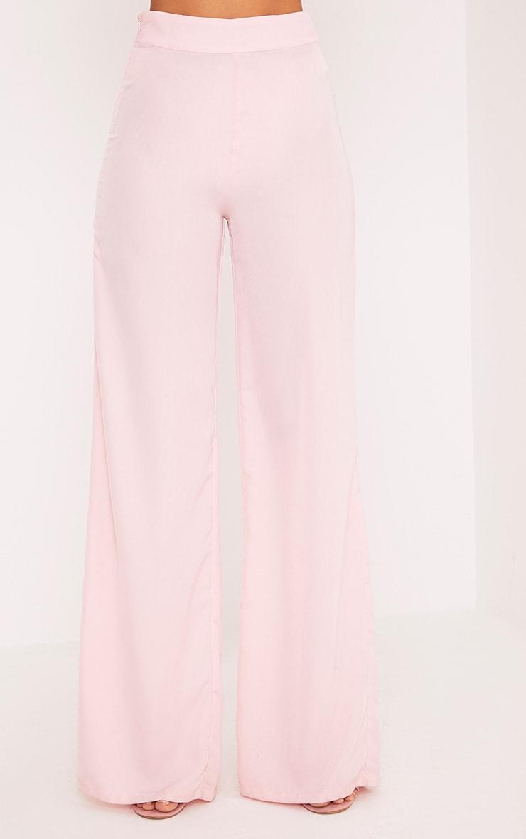 Elnie Baby Pink Wide Leg Suit Pants 2