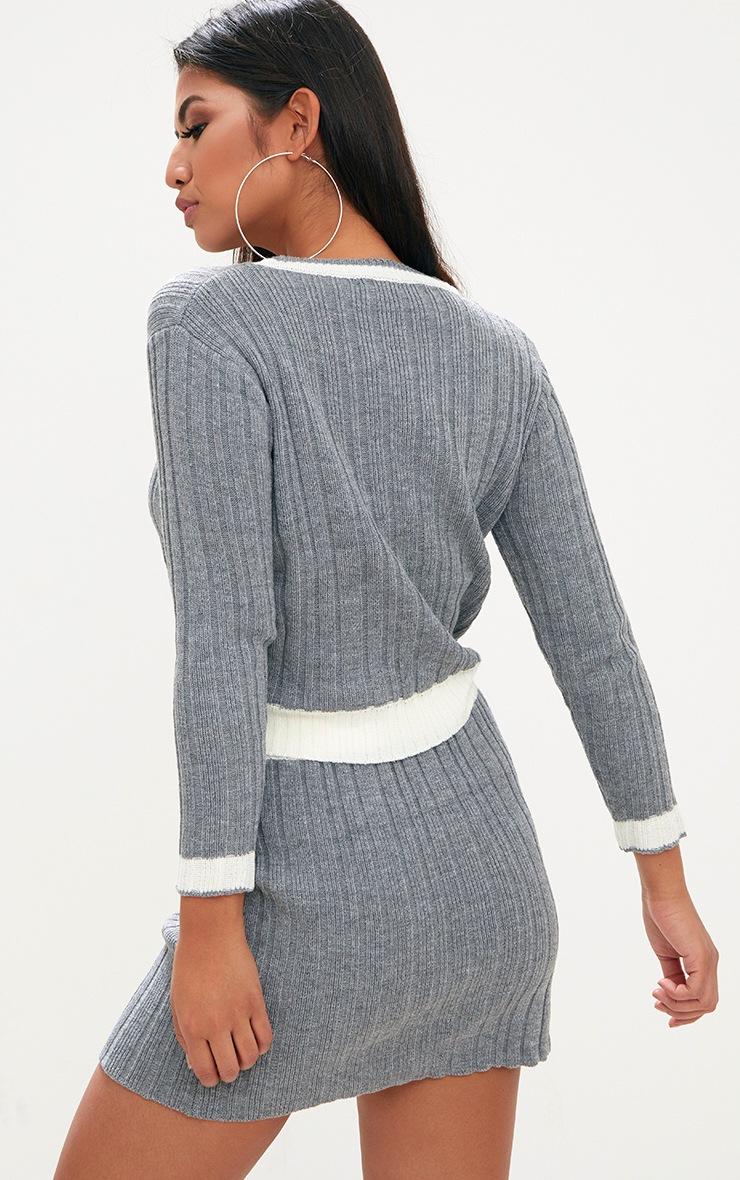 Grey Tipped Skirt Set 2