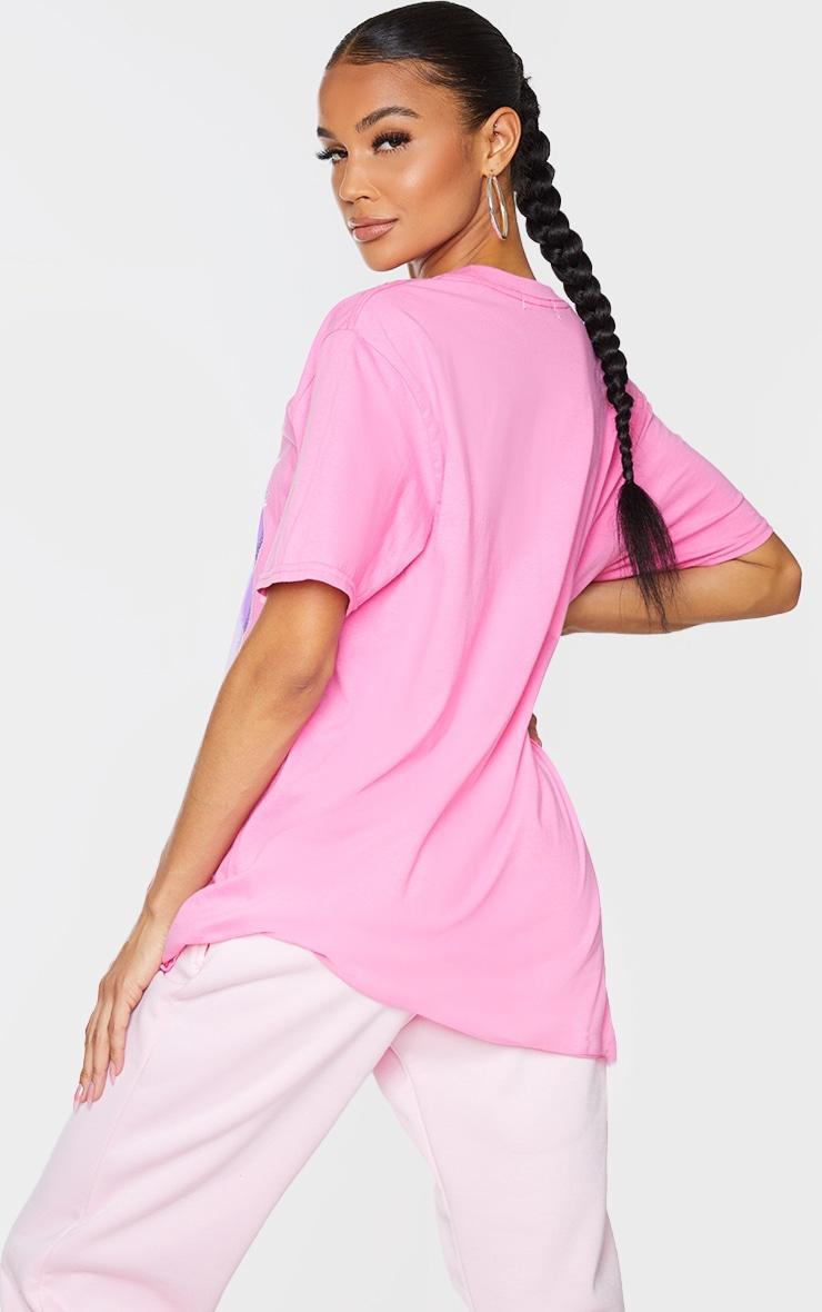 PRETTYLITTLETHING Fuchsia Printed Baby Girl T Shirt 2
