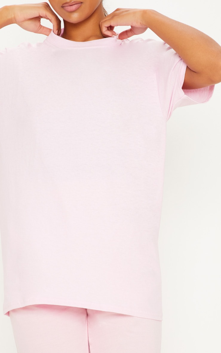 Ultimate Light Pink Oversized T Shirt 5