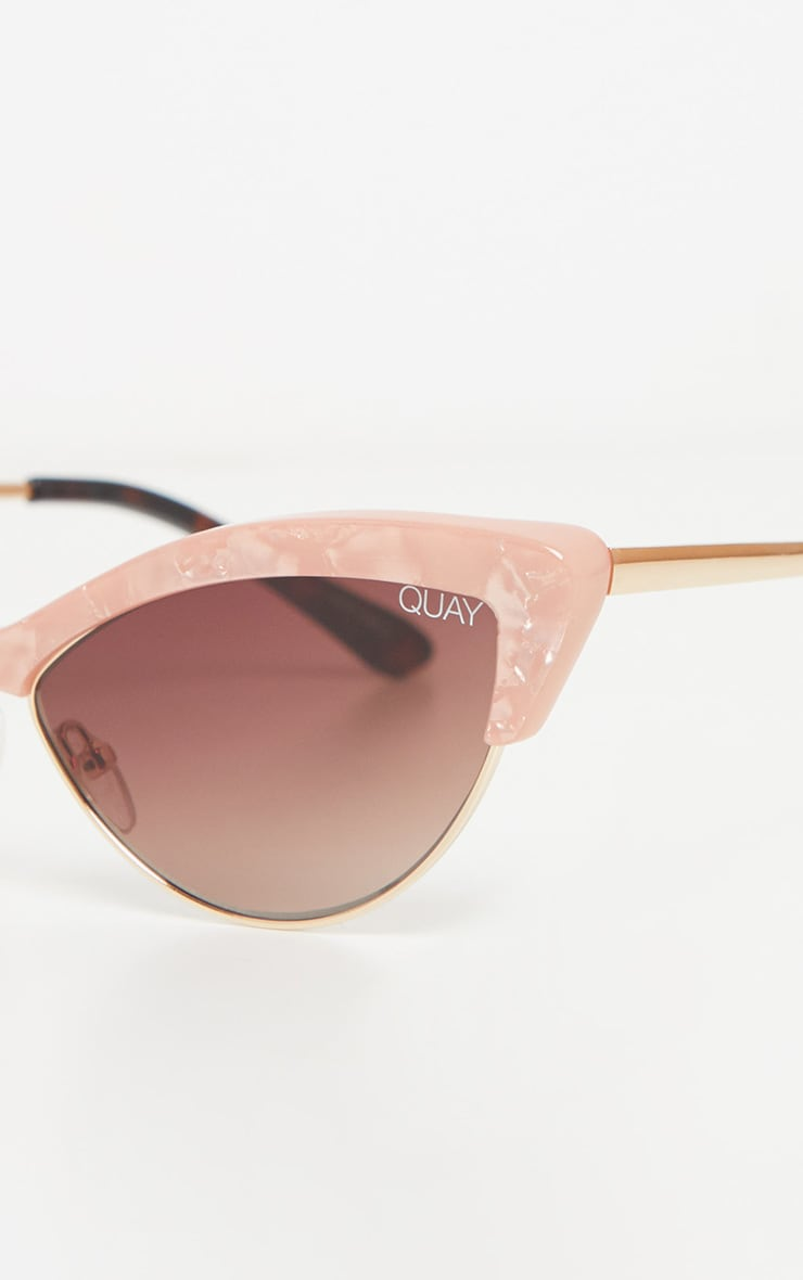 QUAY AUSTRALIA X FINDERS KEEPERS Peach Resin Frame Brown Lens Sunglasses 5