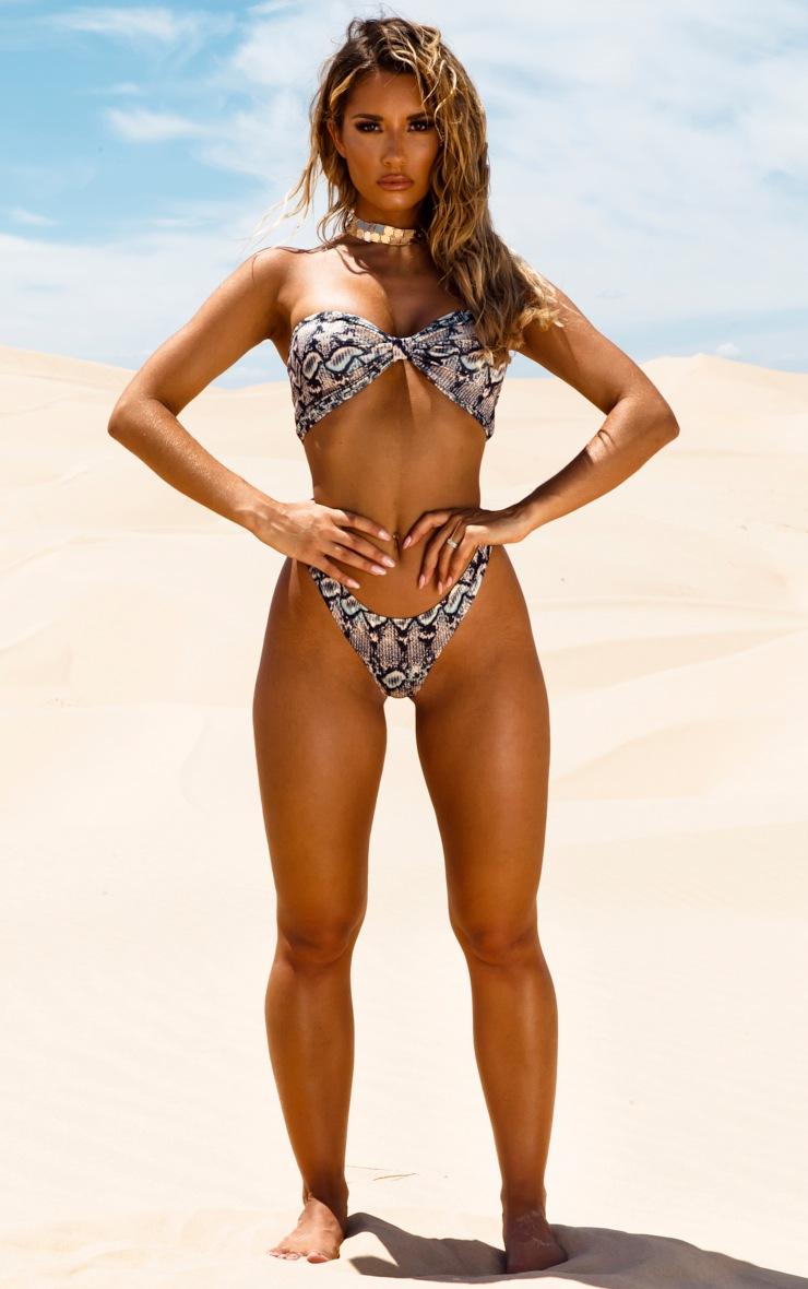 Brown Snake Bow Bikini Top 4