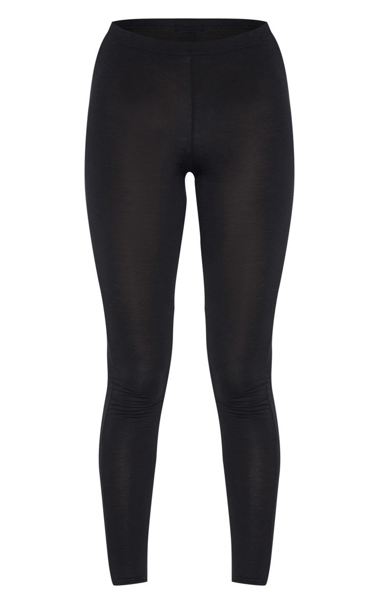 Tall Black Basic Jersey Leggings 1