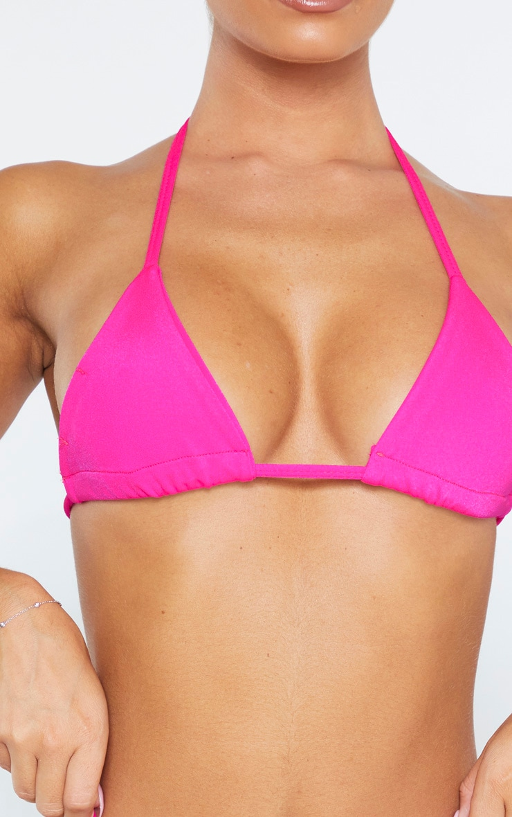 Pink Mix & Match Triangle Bikini Top 5