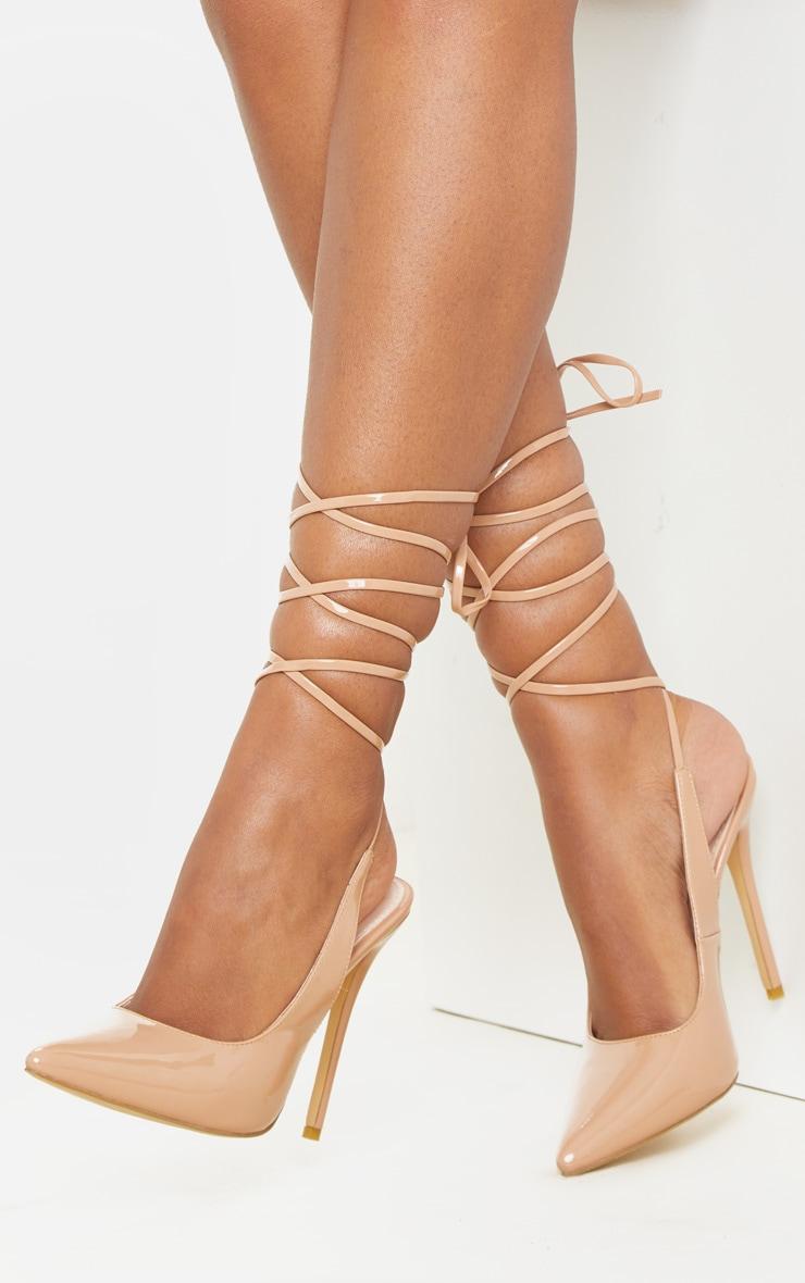 NudeAnkle Tie Court Shoe 2