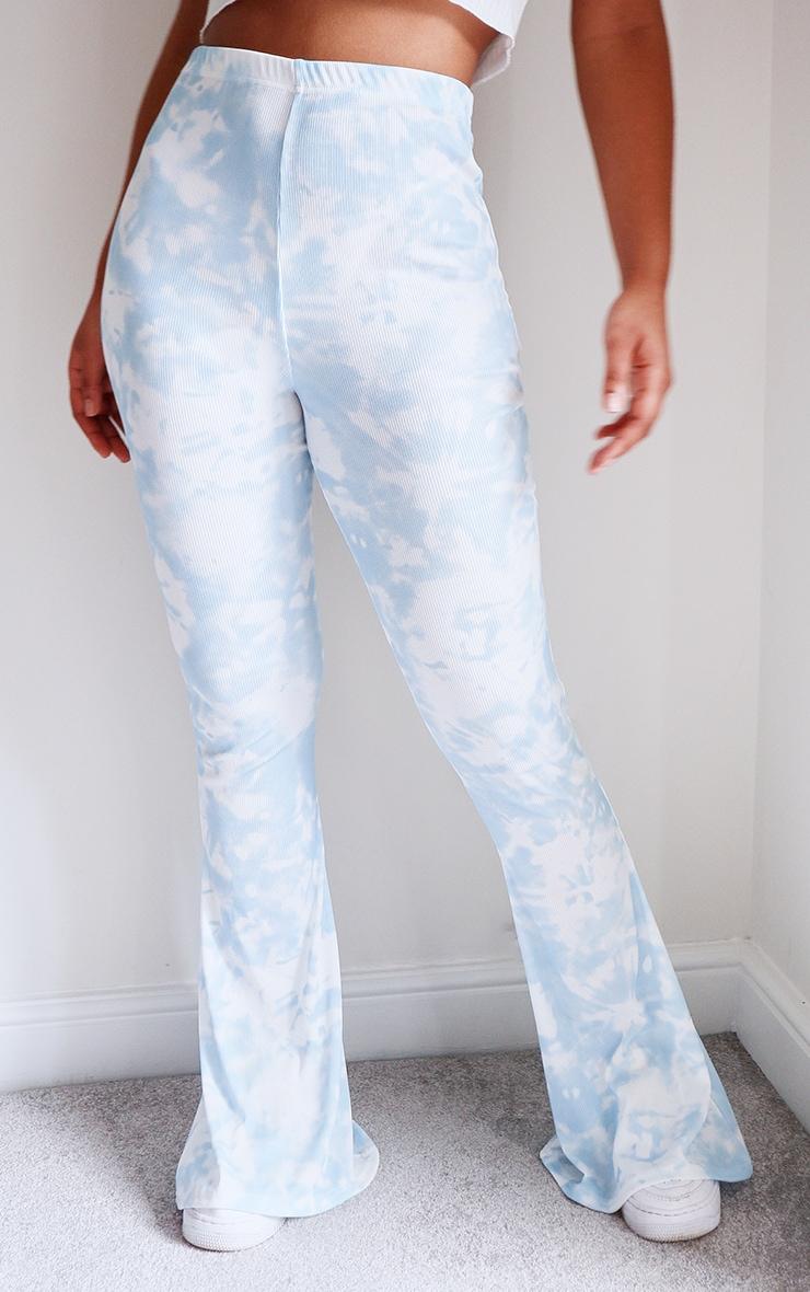 Blue Flared Tie Dye Pants 2