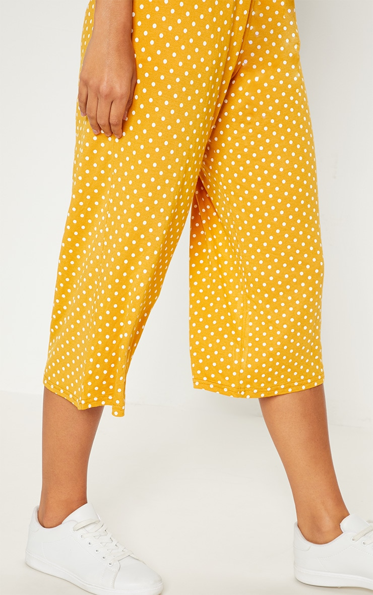 Mustard Polka Dot Culotte 5
