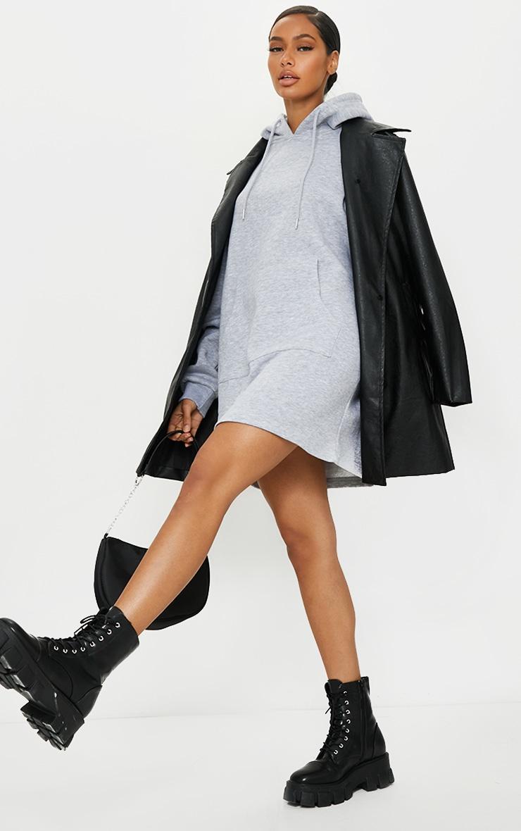 Grey Oversized Pocket Detail Jumper Dress 1