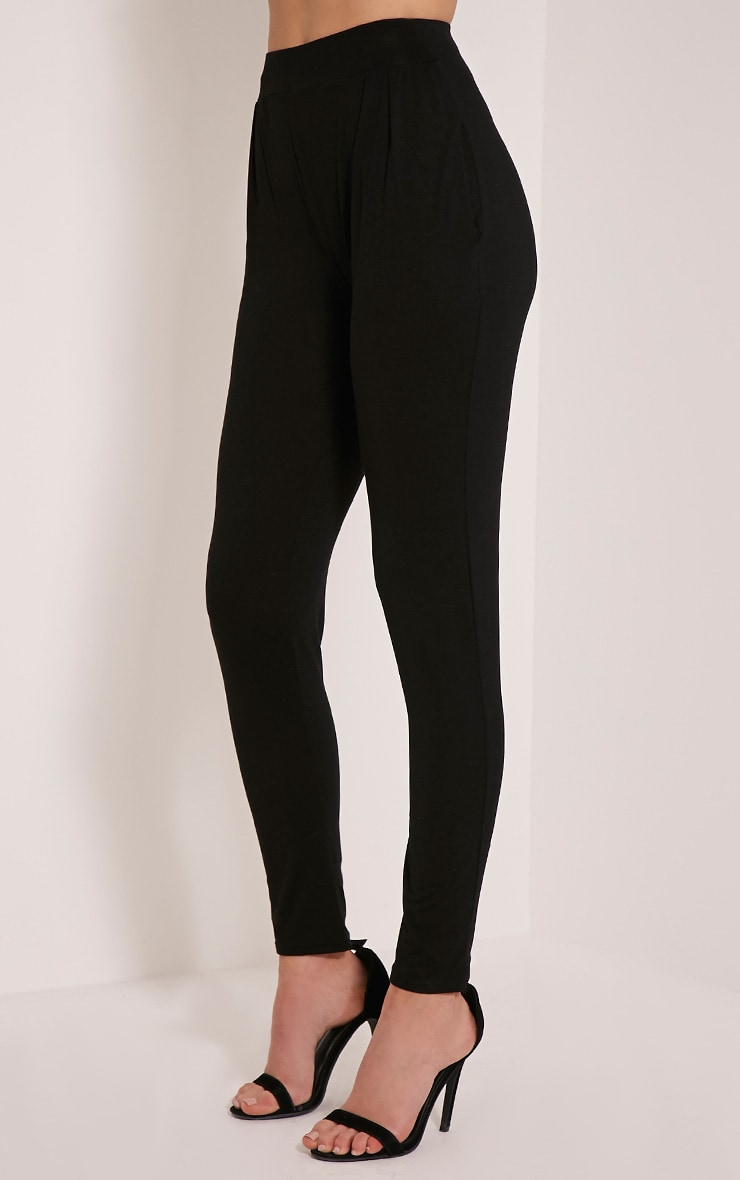 Rana Black Jersey High Waisted Joggers 4