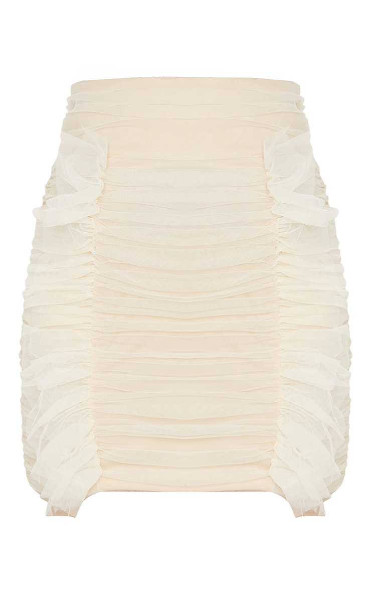 Cream Organza Frill Skirt 6