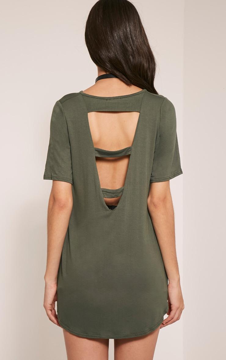 Ashby Khaki Strap Back Jersey T-Shirt 2