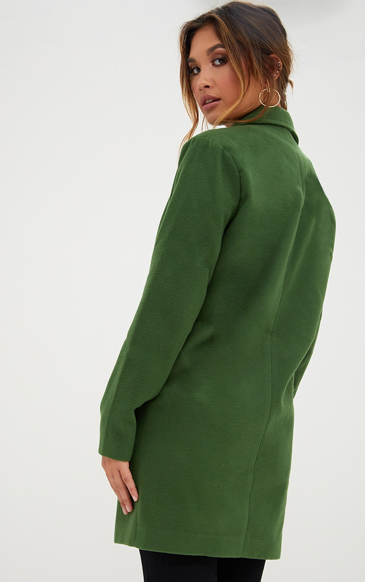 Green Double Breasted Coat 2