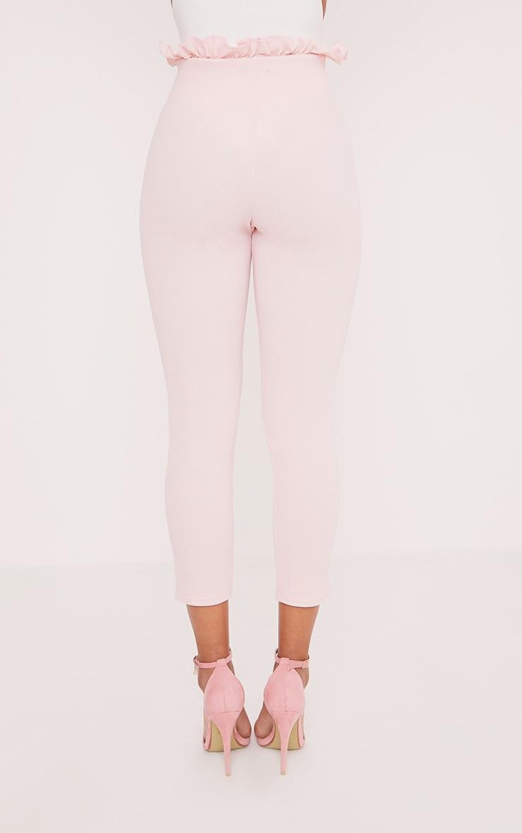 Perlita Pink Paperbag Skinny Trousers 4