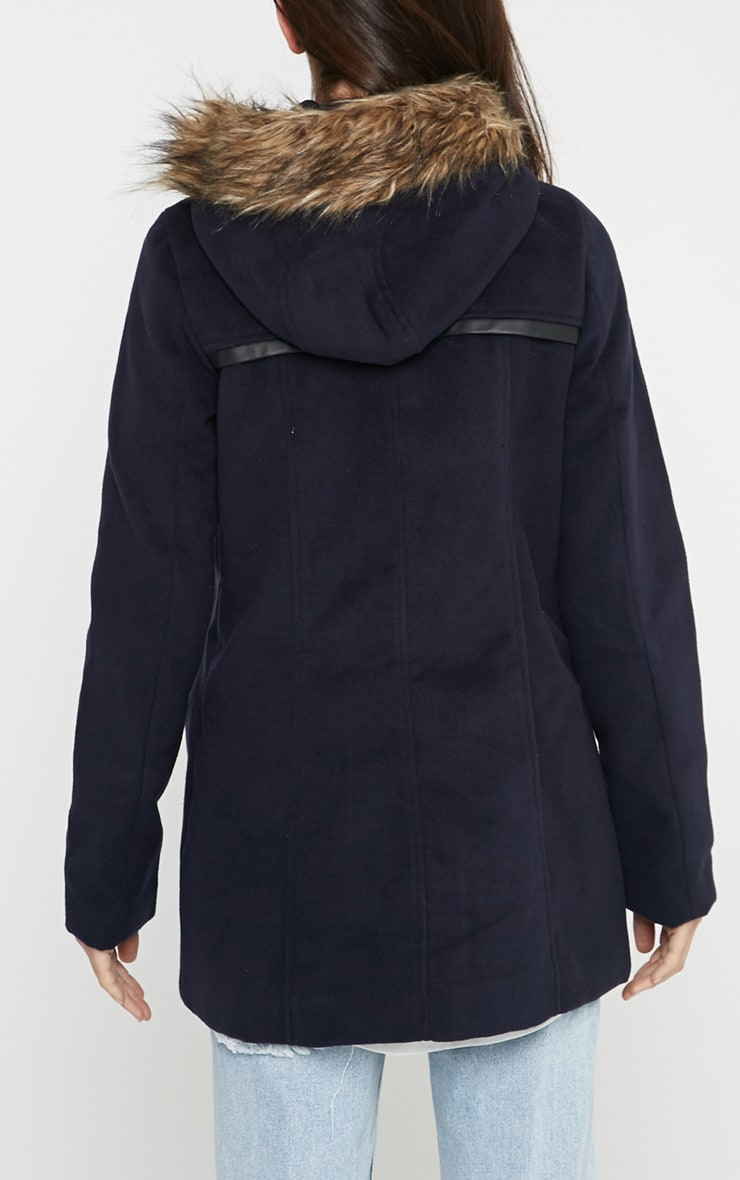 Lilly Navy Duffle Coat  2