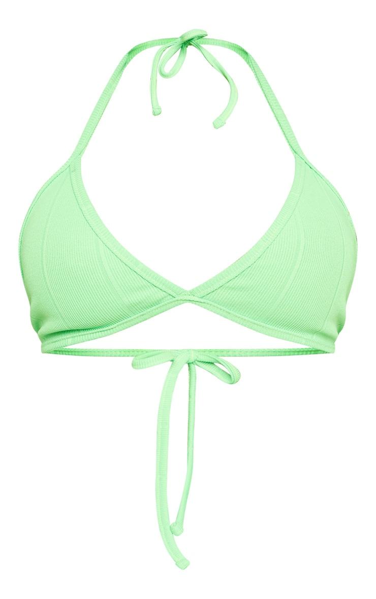 Shape Neon Lime Bandage Halterneck Bralet 3