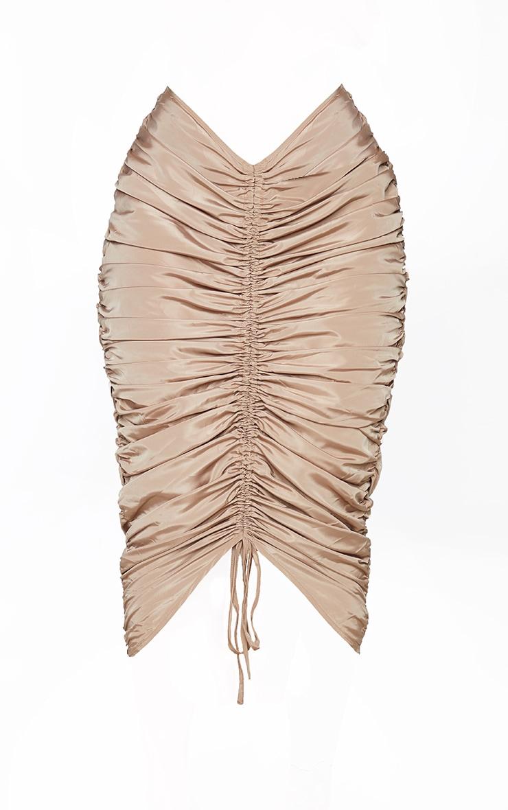 Shape Stone Nylon Extreme Ruched Midi Skirt 5