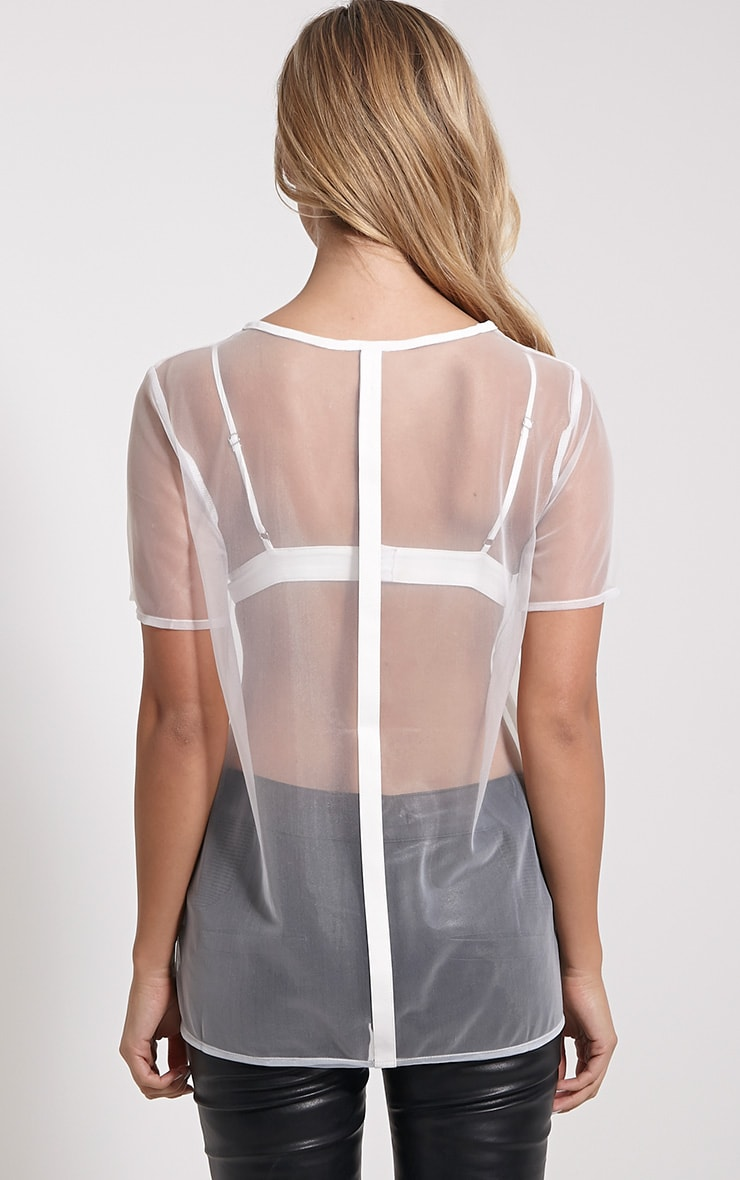 Andria White Mesh T-Shirt 2