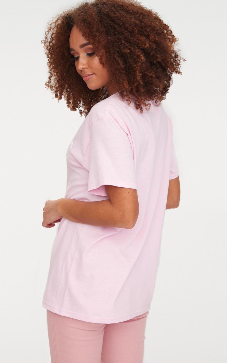 Baby Pink Iconic Slogan T Shirt 2