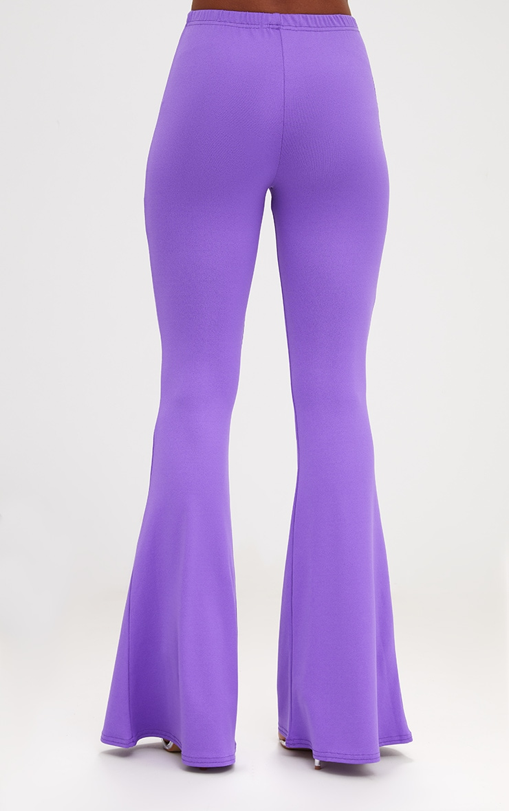 Purple Ultimate Flared Trousers 4