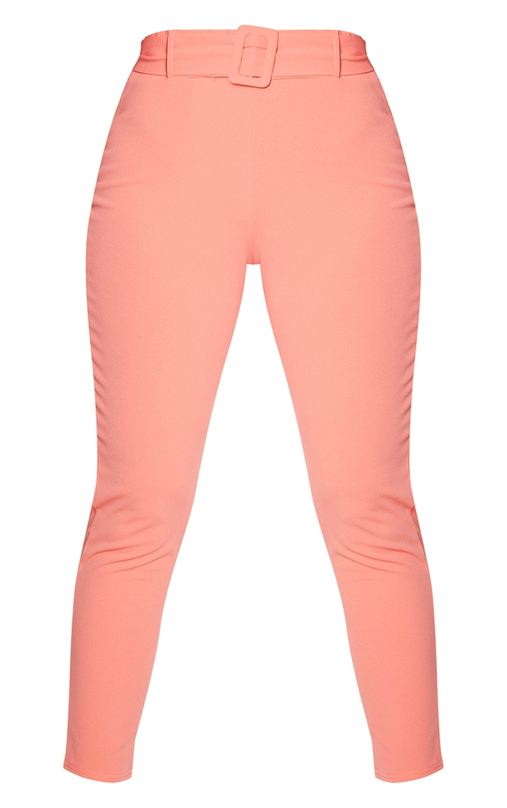 Coral High Waisted Belted Trouser 5