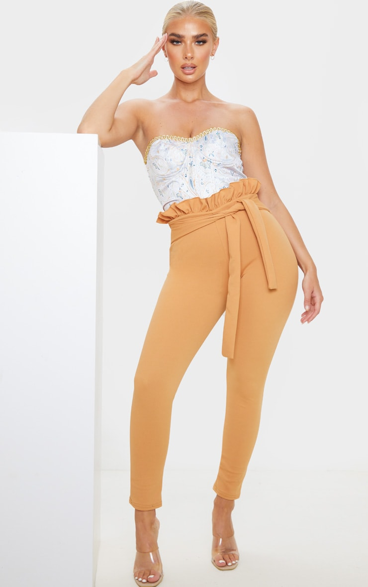 Biscuit Paperbag Skinny Trousers 1