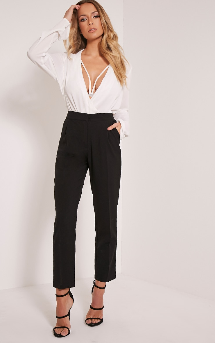 Taryn Black Cigarette Trousers 1