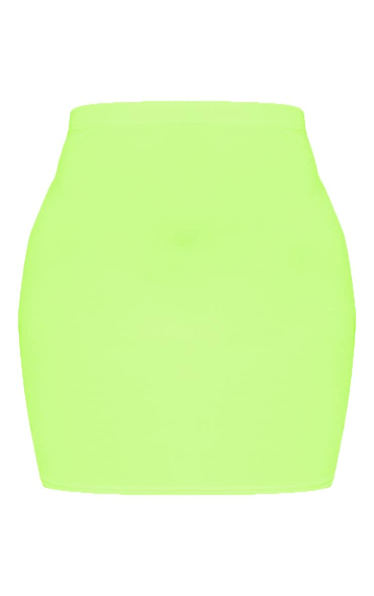 Neon Yellow Mini Skirt 3