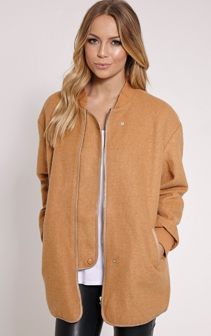 Alley Camel Longline Wool Bomber Jacket 1