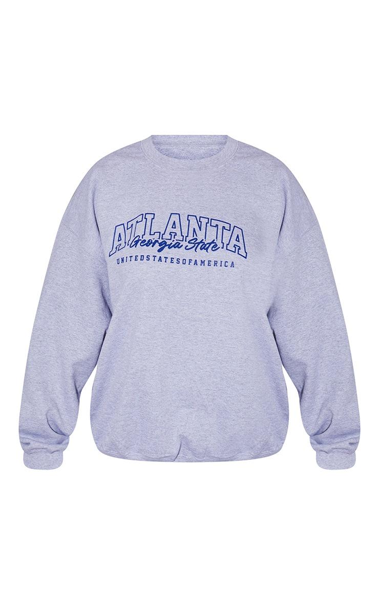 Plus Grey Atlanta Slogan Sweatshirt 5